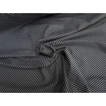 Grey & Black Micro Stripe Spandex