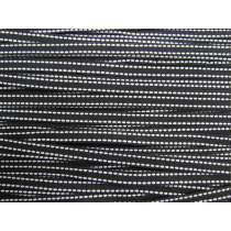 10mm Stitched Grosgrain Ribbon- Black/White #189