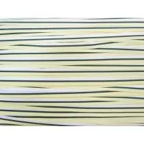 10mm Stripe Grosgrain Ribbon- Lemon/Navy