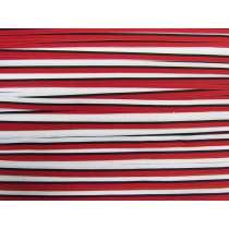 10mm Stripe Grosgrain Ribbon- Red/Black