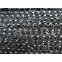 15mm Crochet Look Lace Trim- Greyscale #190