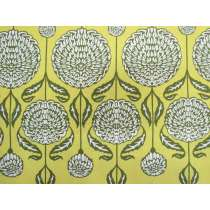 Birch Farm Cotton- Chrysanthemum Blooms- Sage