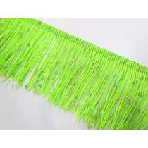Sequin Fringe Trim- Lime
