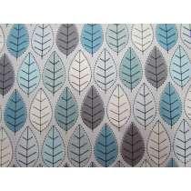 Winter Leaves Cotton- Blue