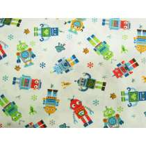 Little Robots Cotton #PW1045