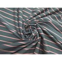 Chevron Tracks Stripe Cotton Jersey #4570