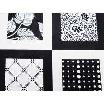 In Frame Cotton- Black/White