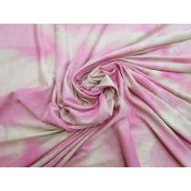Tie Dye Viscose Jersey- Bubblegum Pink #4579