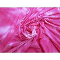 Tie Dye Viscose Jersey- Cerise Pink #4580