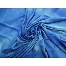 Tie Dye Viscose Jersey- Bright Sky Blue #4581
