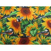 Sunflower Birds Cotton #PW1049