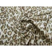 Subtle Stripe Leopard Cotton Jersey #4597