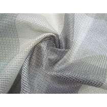 Grey Picnic Check Open Weave Cotton Nylon #2616