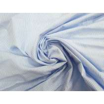 Thin Stripe Cotton Shirting- Blue #4616