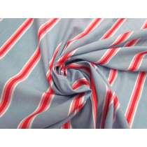 Resort Stripe Cotton Voile- Red #4618