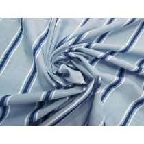 Resort Stripe Cotton Voile- Blue #4617