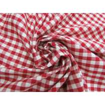 Gingham Check Cotton- Apple Red #4619