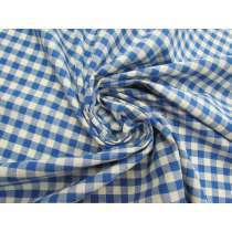 Gingham Check Cotton- Bright Blue #4620
