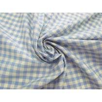 Gingham Check Cotton- Sky Blue #4622