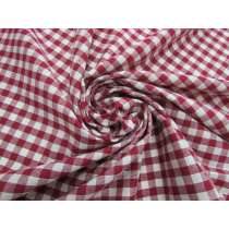 Gingham Check Cotton- Jam Red #4624