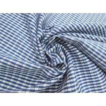Smart Check Cotton- Blue / White #4647
