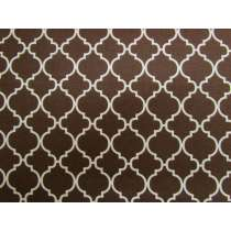 Quatrefoil Cotton- Brown #PW1151