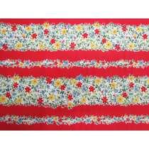 Strawberry Jam Stripe Cotton- Red D#9364