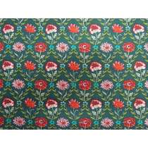 Liberty Cotton- Kew Trellis- Green- The Summer House Collection