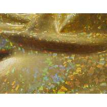 Shattered Glass Spandex- Light Gold