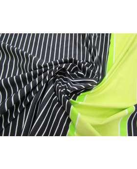 Laser Light Stripe Spandex 68cm Panel- Lime #3147