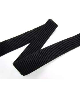 25mm Ribbed Elastic- Black
