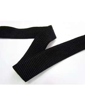32mm Ribbed Elastic- Black