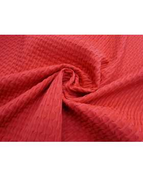 Sea Foam Jacquard Spandex- Red #4359