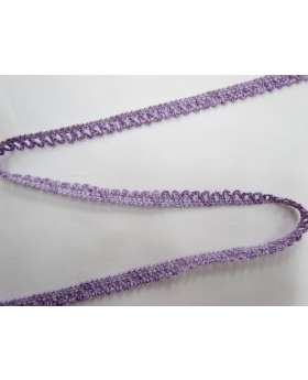 Baby Ripple Scallop Stretch Trim- Purple