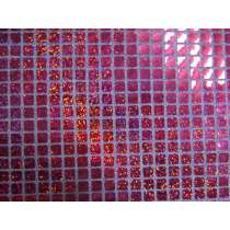 8mm Square Sequins- Cerise on Lilac