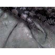 Flower Dance Glitter Organza- Black
