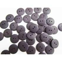 19mm Matte Black Fashion Button FB176