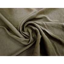 Natural Slub Silk Cotton Woven- Rugged Brown #3422