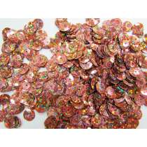 24gm Sequin Pack- Holographic Bronze- 10mm #006