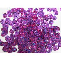 24gm Sequin Pack- Holographic Purple- 8mm #025