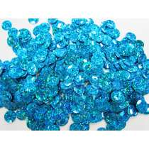 24gm Sequin Pack- Holographic Blue- 10mm #034