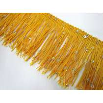 Sequin Fringe Trim- Yellow