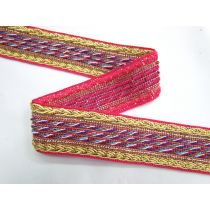 Library Room Braided Trim- Coral