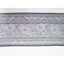 Foil Floral Trim- Silver *Imperfect