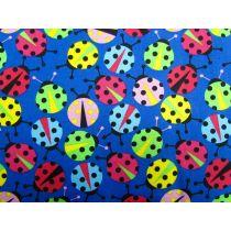 Colourful Lady Bugs- Deep Blue