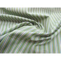 Stripe Cotton Shirting- Green/Red/Blue