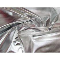 Disco Silver Foile Satin