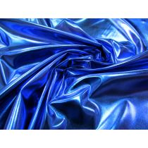 Disco Blue Metallic Foile Satin