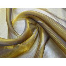 Dark Gold Glass Organza