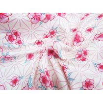 Kawaii Floral Seersucker Cotton